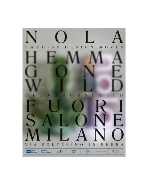 Nola på HEMMA Gone Wild, Milano Design Week. 2019.