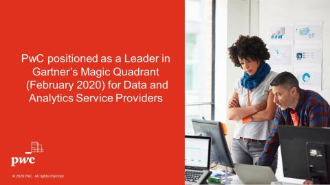 PwC positioned as a Leader in Gartner Magic Quadrant for Data and Analytics Service Providers