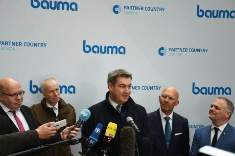 bauma 2019 Eröffnung - Messe München