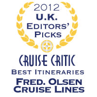 Fred. Olsen Cruise Lines scoops  'Best Value for Money' and 'Best for Itineraries'  in the '2012 Cruise Critic UK Editors' Picks Awards'