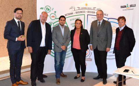 Civilminister Ardalan Shekarabi besökte Ragn-Sells