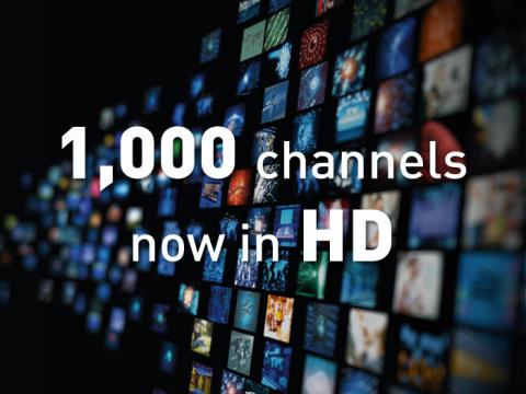 Eutelsat alcanza un nuevo hito con 1,000 canales de alta definición