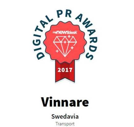 Swedavia vann Digital PR Awards 2017 i sin grupp. Bild Swedavia.