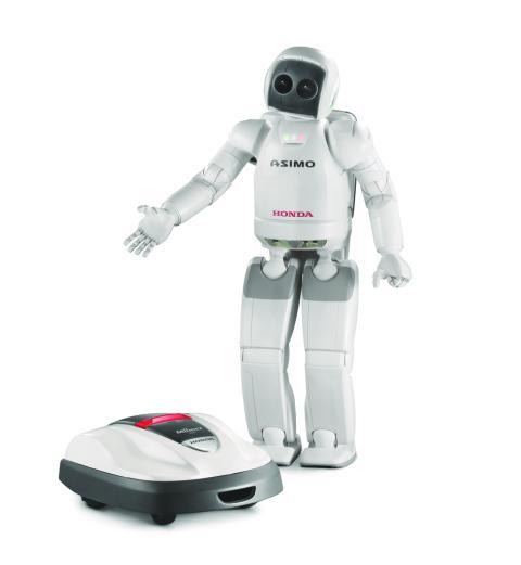 Honda robotgräsklippare Honda Miimo och den humanoida roboten ASIMO