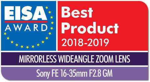 EISA Award Logo Sony FE 16-35mm F2.8 GM dropshadow