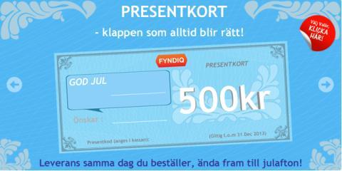 Presentkort på Fyndiq: Sista-minuten-klappen som alltid uppskattas