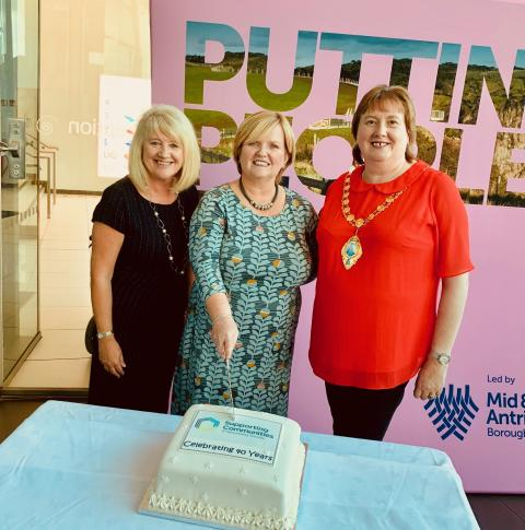 Mayor of Mid and East Antrim joins Ballymena based chairty as it celebrates 40 Years of Supporting Communities'