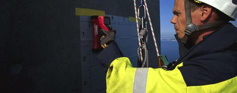 Rope Access Sverige fortsätter att utföra betongscanning och inspektion i Norra Länken