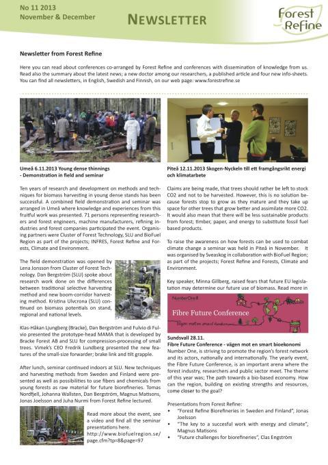 Forest Refine Newsletter No 11
