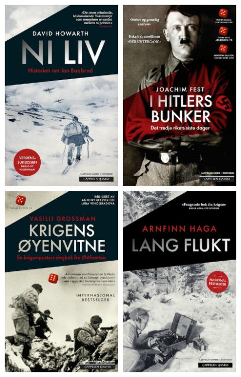 Omslag pocketbøker om andre verdenskrig