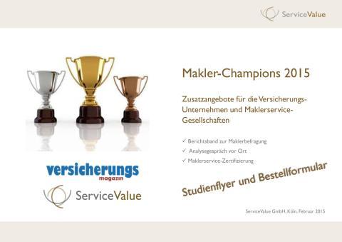 Studienflyer und Bestellformular Makler-Champions 2015