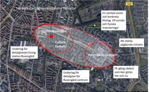 Idéer för hur Rosengård centrum och Rosengård station kan utvecklas presenteras i en utställning