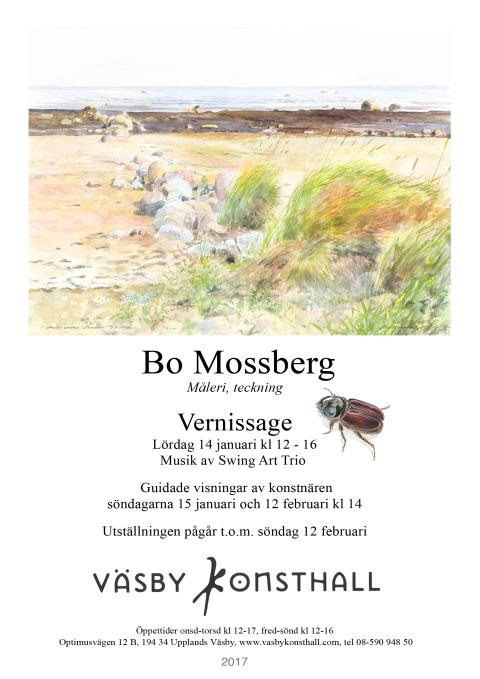 Vernissagekort Bo Mossberg 2017