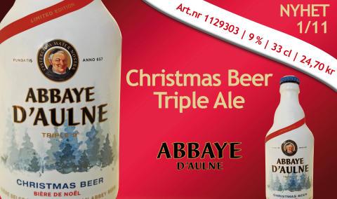Belgisk julöl från Abbaye D'aulne i Belgien - på Systembolaget 1 november