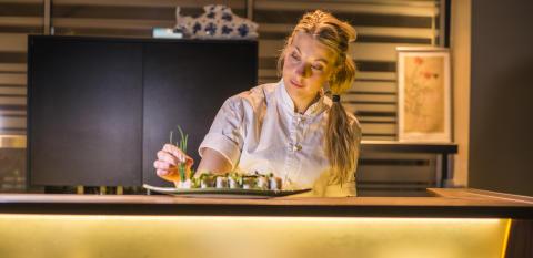 Frida Ronge, köksmästare på vRÅ. Foto: Clarion Hotel Post