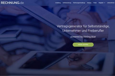 Ansicht der Website RECHNUNG.de