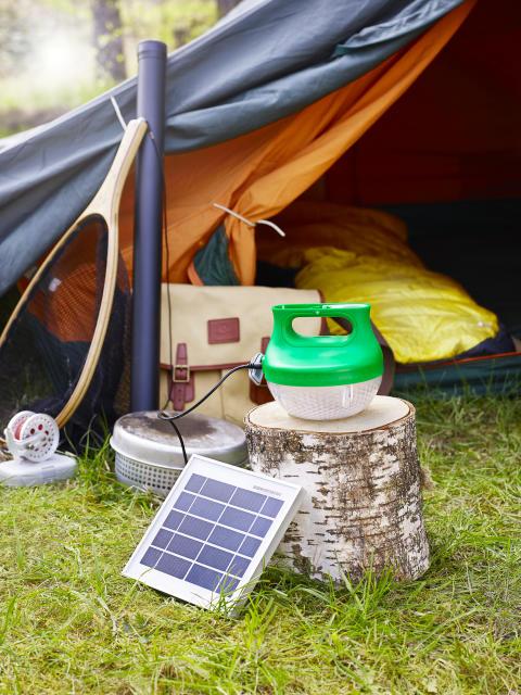 Strömlöst ljus till sommarens camping!