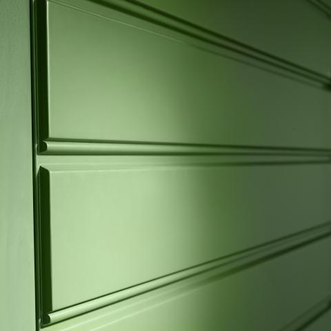 Ytterdörr Hällerberga detalj grön