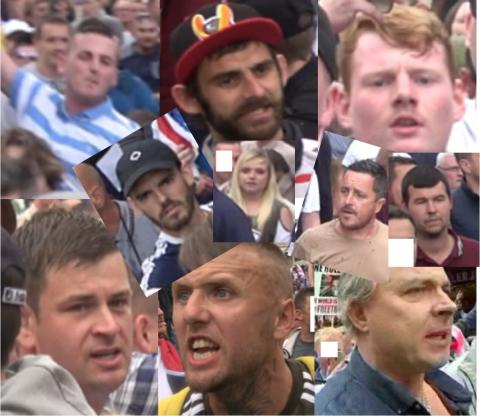 Appeal to identify 10 people after officers injured at 'Free Tommy Robinson' demonstration