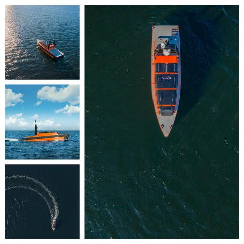 New multipurpose Sounder USV from KONGSBERG unwrapped at Ocean Business 2019