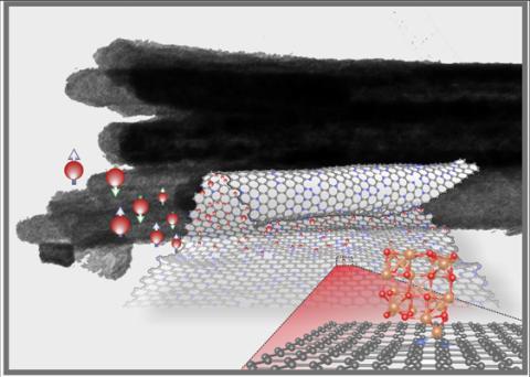 Grafenrullar formas med hjälp av magnetiska nanopartiklar