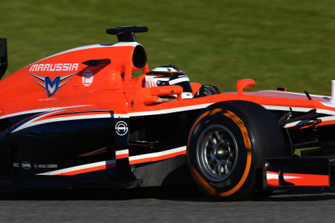 P Zero Orange hard compound on a Marussia F1 car