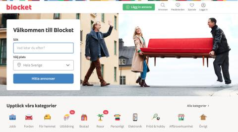 Blocket förnyar sajten - Sverigekartan slopas