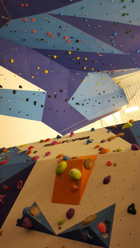 Bis zu 21 Meter hohe Kletterwände bieten den Besuchern 60 Tracks