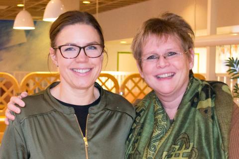 Sara Bäckmark, projektledare vid landstingets HR-stab och Ulla Olofsson, processägare vid Västerbottens läns landsting.