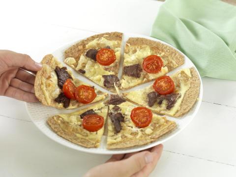 Tortillapizza med reinsdyr