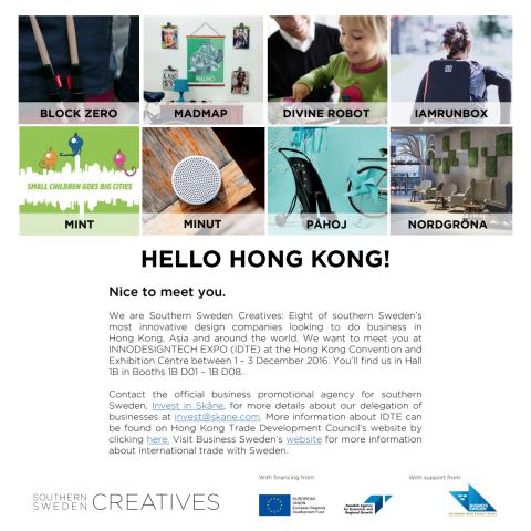 Invitation Hong Kong Southern Sweden Creatives