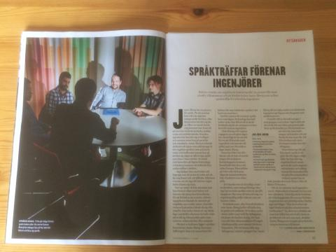 Jan-Erik Åberg  tells the story of Swedish Club to Ingenjören