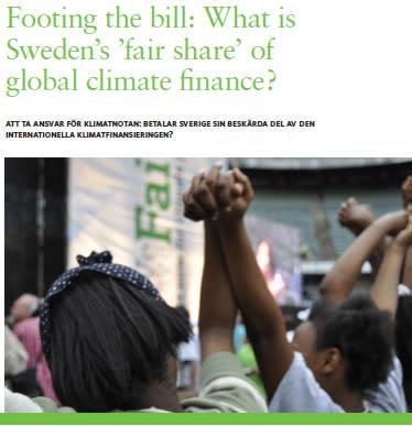 Ny rapport - Att ta ansvar för klimatnotan