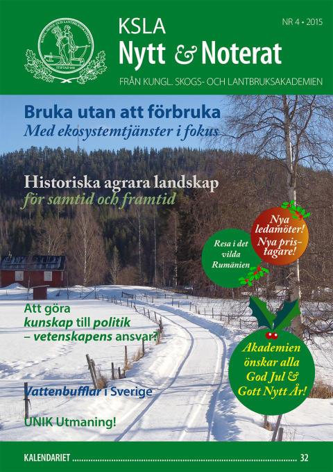 KSLA Nytt & Noterat 4-2015 – julnumret!