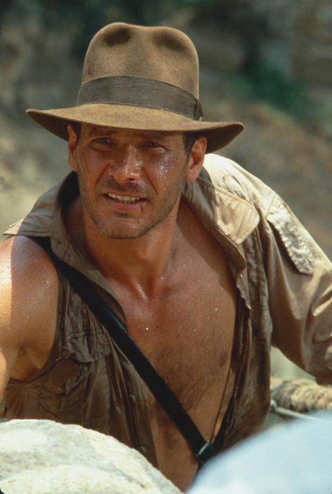Steven Spielbergs Indiana Jones og Templets forbandelse med Harrison Ford som Indiana Jones