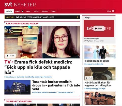 SVT-reportage om felaktig Liothyronin