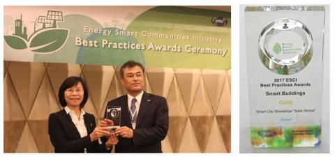"PanaHome Smart City Shioashiya ""Solar-Shima"" Wins the Gold Award"