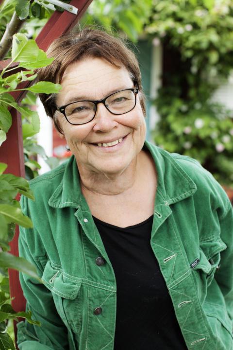 Lena Israelsson, författare. stadsodlarkolonist och en av initiativtagarna till Stadsodlarfestivalen 6/9 2014