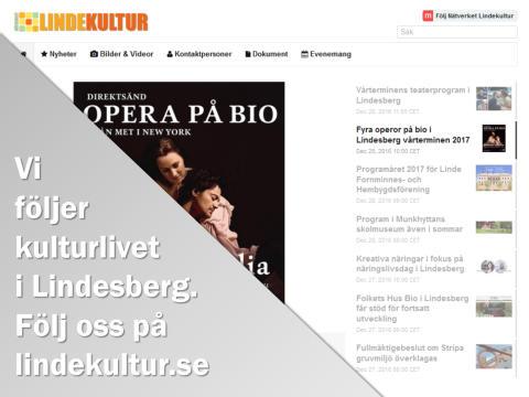 Veckans nyheter från Nätverket Lindekultur (vecka 51-01)