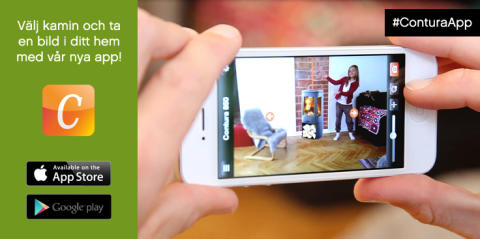 Ny app från Contura hjälper dig välja kamin