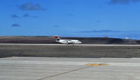 HISTORIC ARRIVAL OF CHARTER FLIGHT