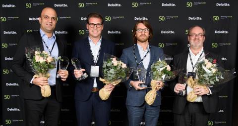 Fingerprint Cards är Sveriges snabbast växande teknologiföretag för andra året i rad