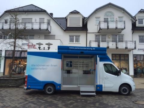 Beratungsmobil der Unabhängigen Patientenberatung kommt am 19. Mai nach Winterberg.