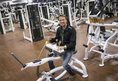 Christer Berg på plats i Endrofins träningsanläggning