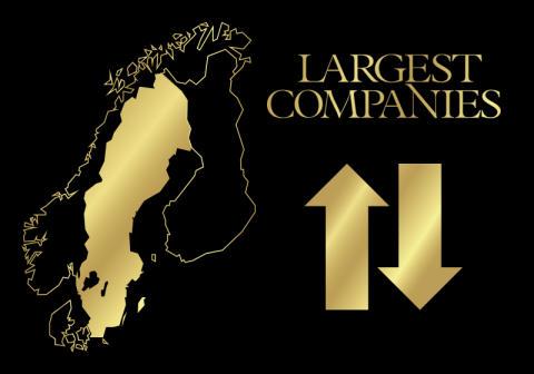 Här är Sveriges största företag. Unika topplistor.