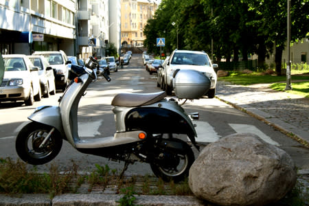 Moped i stad