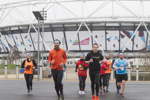 #TeamCALM runners approach start line of London's 'Mental Health Marathon' with royal support