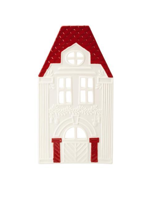 HR_Little_Christmastown_Front 8 white-red_Tea light house