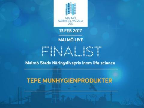 TePe finalist i Malmös Näringslivsgala