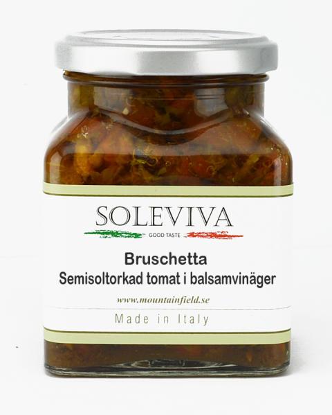Bruschetta semisoltorkad tomat i balsamvinäger